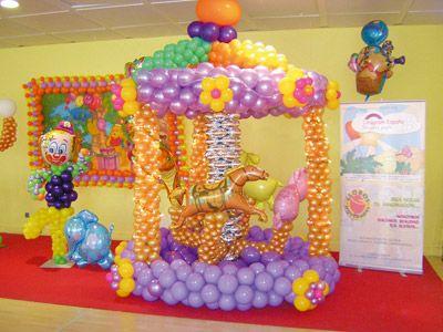 Como decorar con globos for Decoracion de globos