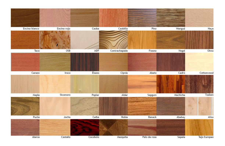 Las Mejores Maderas Para Muebles : Tipos y clasificacion de la madera