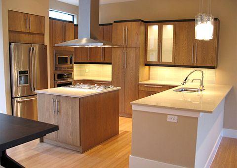 Cocinas modernas empotradas for Modelos de cocinas de madera modernas