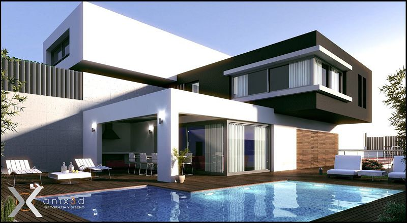 Fotos de modelos de casas modernas for Arquitectura de casas modernas planos