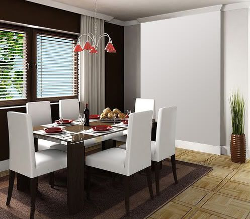 Pinturas para el interior de tu casa for Casa minimalista roja