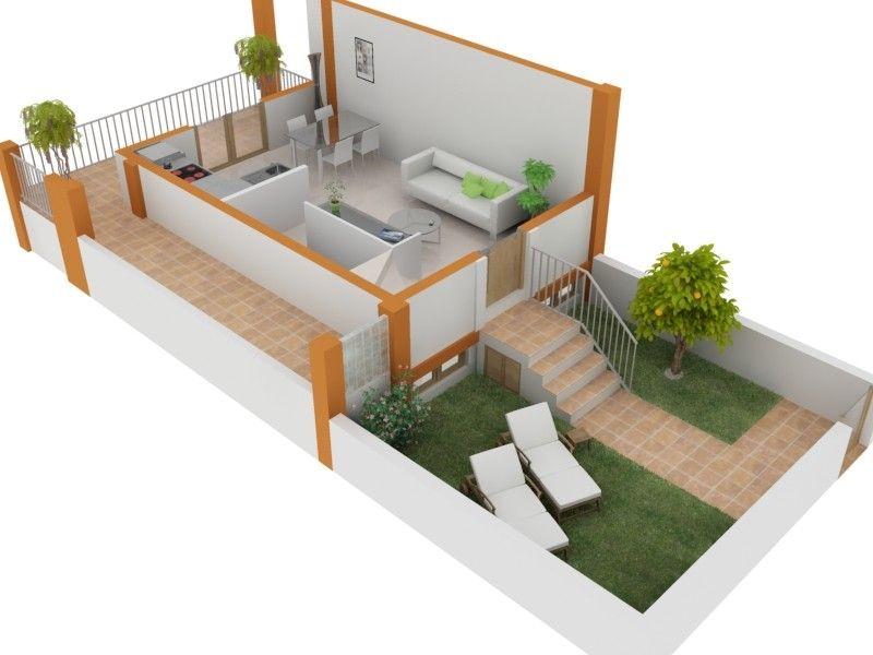 Planos de casas de dos niveles for Paginas para hacer planos de casas gratis