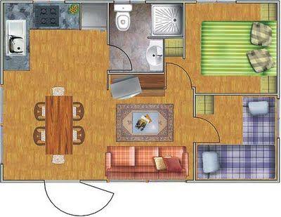 Planos de casas de dos pisos gratis - Ikea piso 50 metros ...