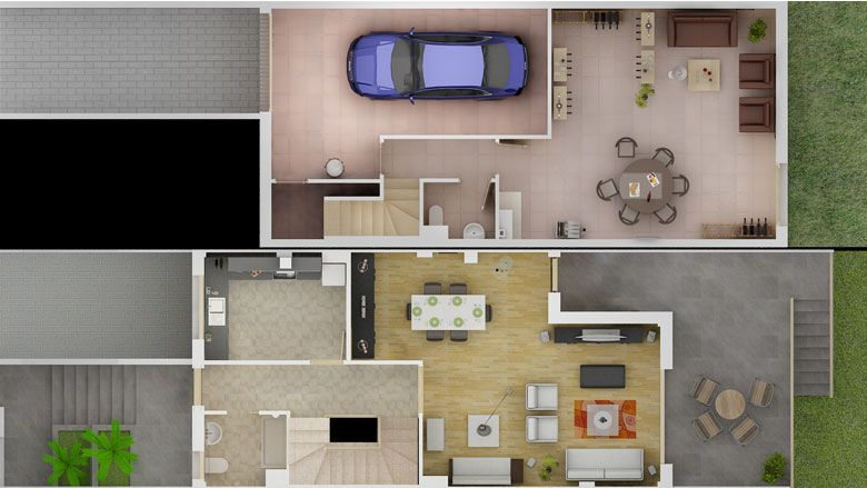 Planos de casas gratis de dos plantas for Planos de casas pequenas de dos plantas
