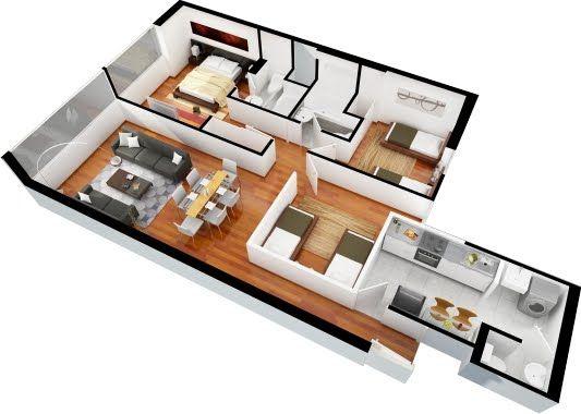 Planos de casas una planta for Planos para casas de una planta