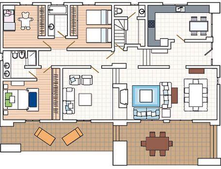 Planos de casas chicas for Muebles para planos de casas