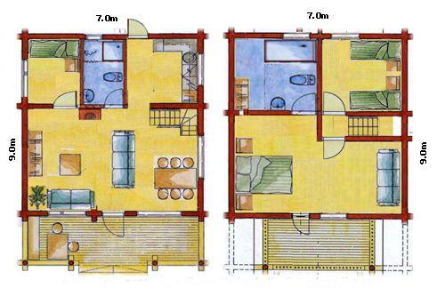 Planos de casas de madera gratis - Planos para casa ...