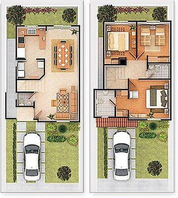 Planos de casas de tres habitaciones - Habitaciones para tres ...