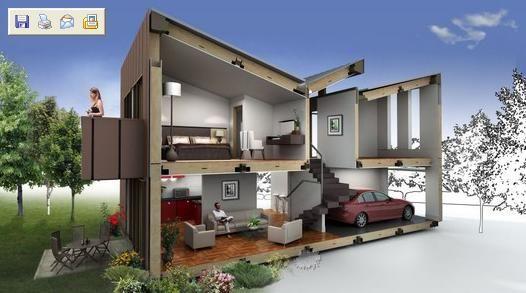 Planos de casas dos plantas for Planos de casas de 2 plantas