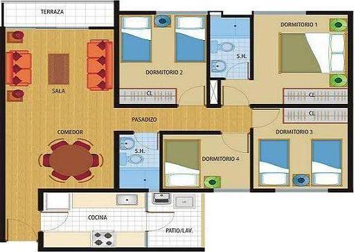 Planos de viviendas de una planta for Planos de casas para construir de una planta