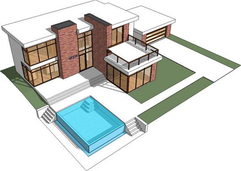 Planos de viviendas modernas for Fotos de casas modernas y sus planos