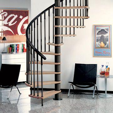 Escalera de caracol moderna for Escaleras modernas para espacios pequenos