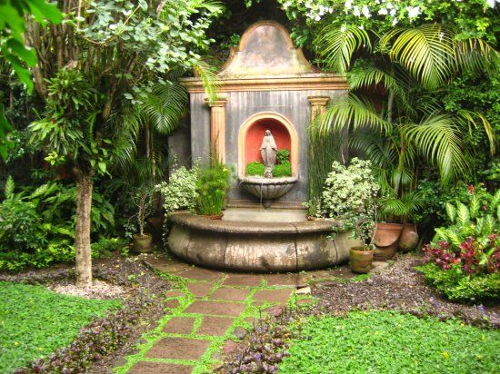 Fuente para el jardin - Fuente de pared para jardin ...
