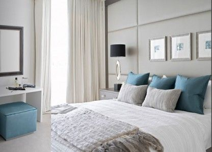 Los colores ideales para las recamaras for Chica azul dormitorio deco