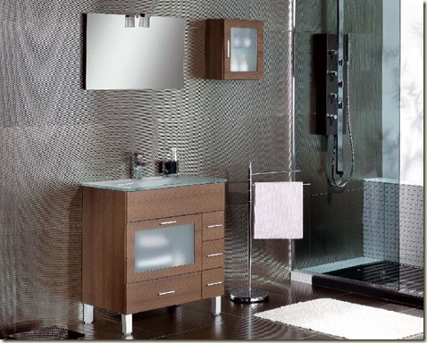 Muebles de baño pequeños completamente moderno