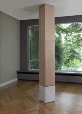 Una columna en medio de la sala - Como decorar columnas ...