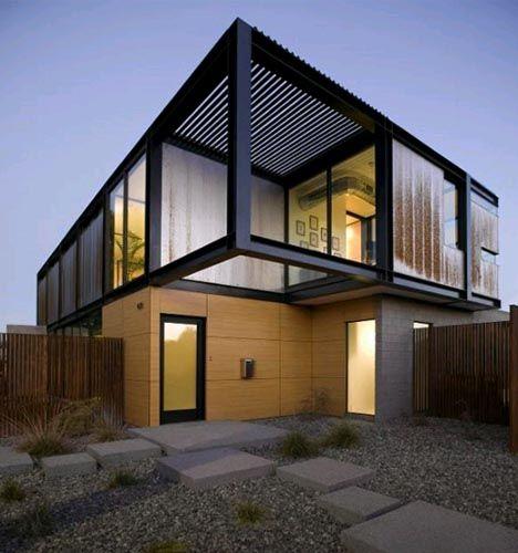Arquitectura casas completamente modulares for Casa minimalista 6 x 12
