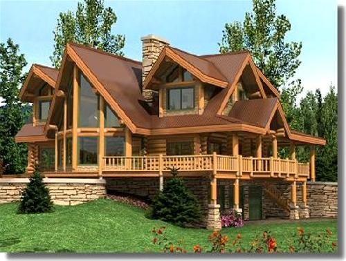 Las arquitectura de chalets - Chalet de madera y piedra ...
