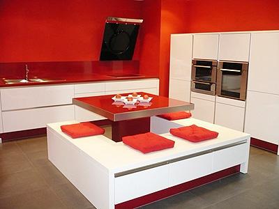 Pintar mi cocina de color rojo - Cocinas color rojo ...