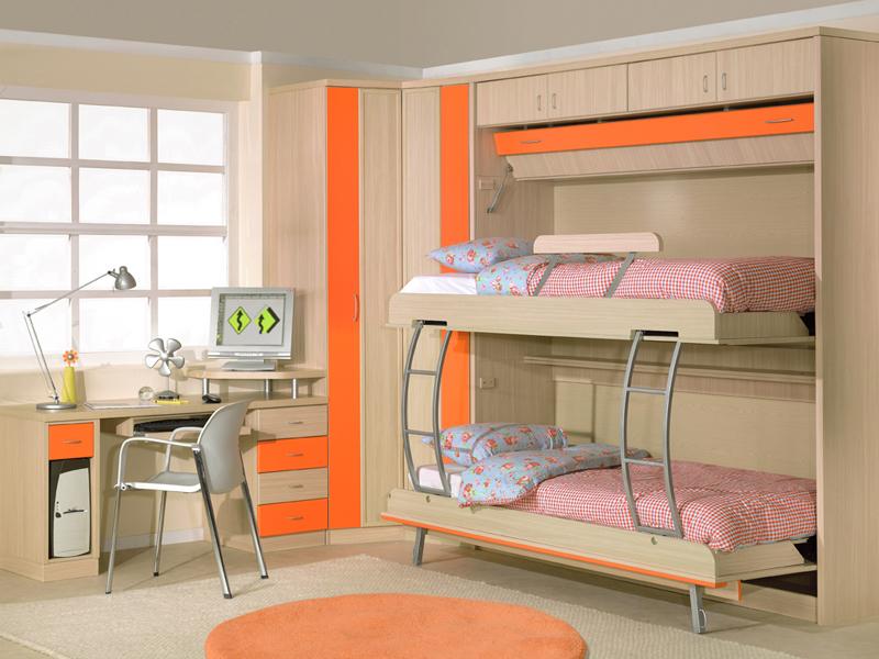 Recamaras infantiles y su correcta decoraci n - Habitaciones infantiles dobles poco espacio ...