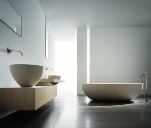 Baños minimalista y diseño interior actual