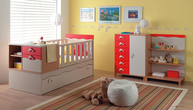 Decoracion interior moderna para habitaciones de bebes Decoracion indu moderna
