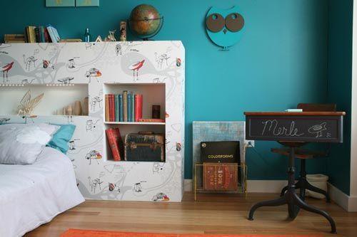 Estilo Retro Y Vintage En Habitaciones Para Ninos - Habitacion-retro