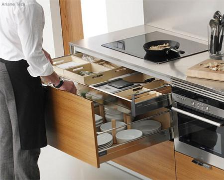 Dise o e instalacion de cocinas peque as - Cajoneras de cocina ...