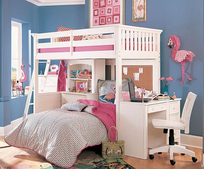 Decoracion interior de dormitorios compartidos - Habitaciones para dos ninas ...