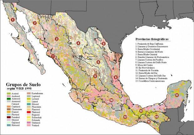 Mapas topograficos de Mexico