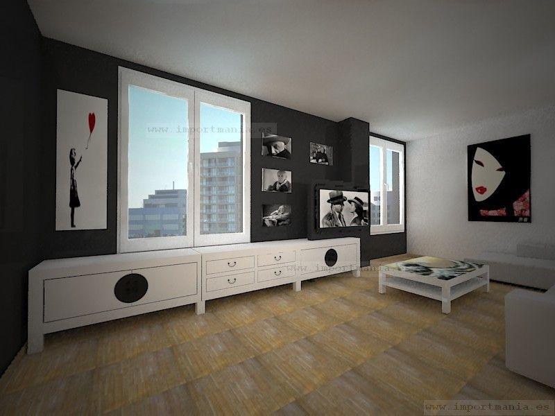 Habitacion y sala al estilo oriental - Habitacion estilo zen ...