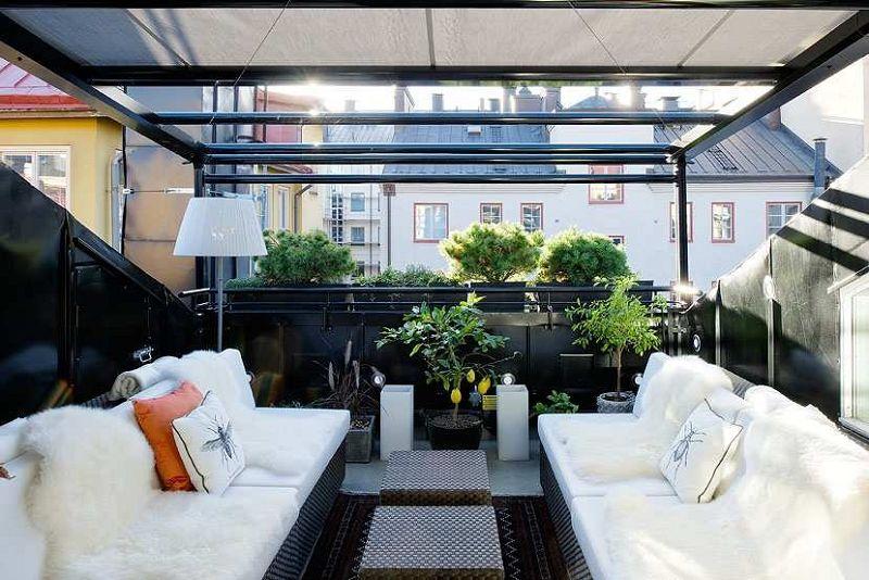 Sala comedor y terraza al estilo nordico - Comedor terraza ...