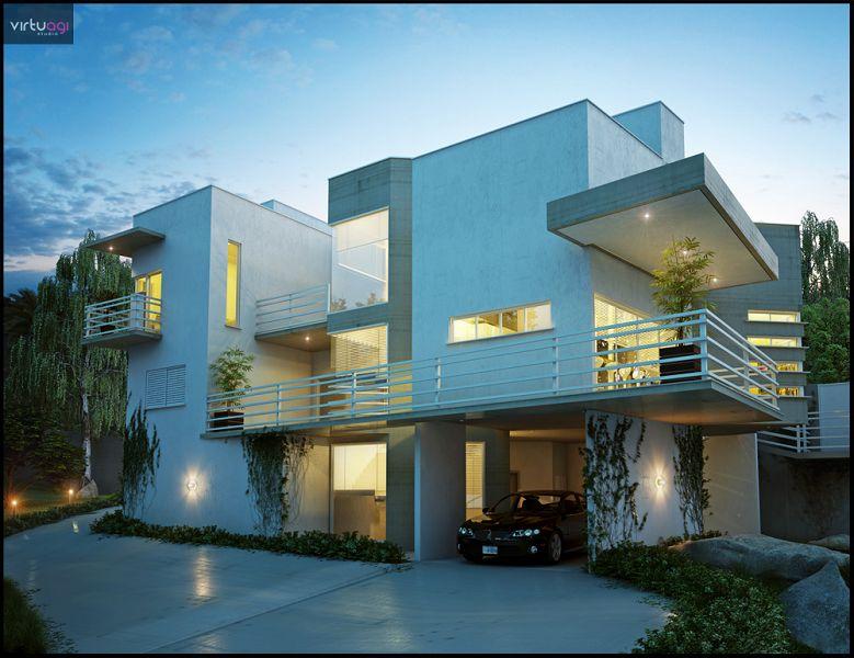 10 increibles casas dise adas con autodesk for Imagenes de arquitectura minimalista