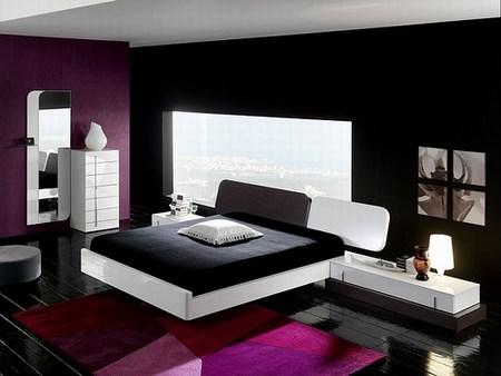 Decoracion interior de casas y apartamentos utilizando blanco y negro