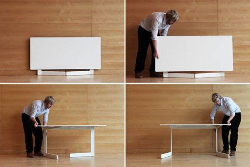 Como instalar una mesa plegable - Mesa de escritorio plegable ...