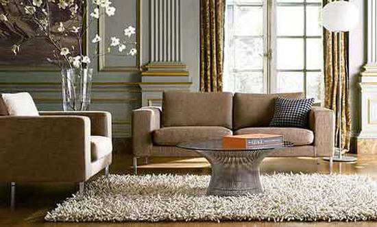 Las alfombras elegantes en la decoración