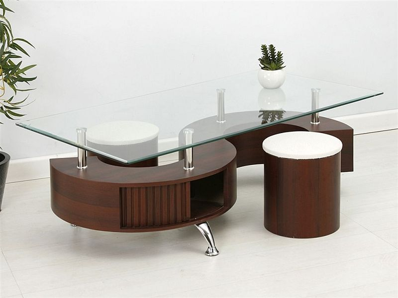 Mesitas de centro en vidrio y madera - Sobre de cristal para mesa ...