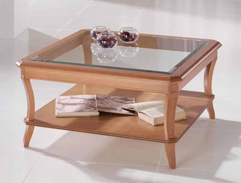 Mesitas de centro en vidrio y madera - Mesas de centro de cristal ...