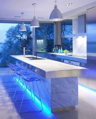 Cocinas modernas iluminacin LED