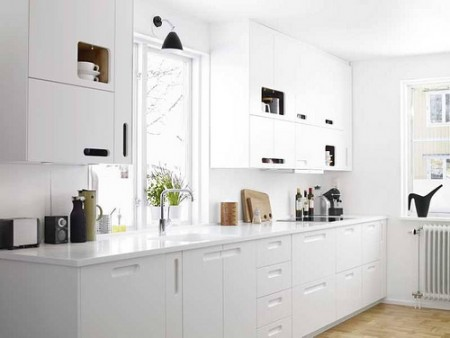 kitchen w white cabinets decoraci 243 n de cocinas blancas 22120