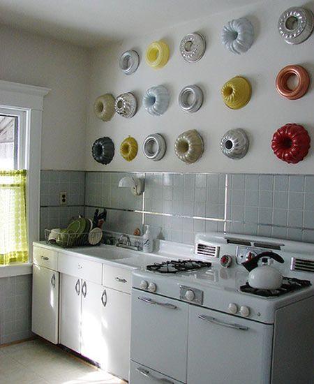 Decoración de paredes con moldes de cocina