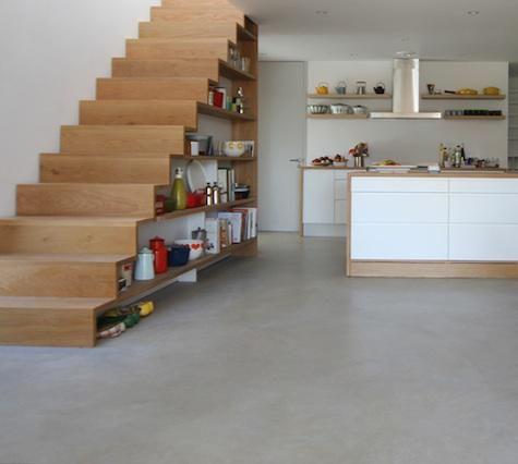 Estanter as de cocina bajo escalera - Estanterias para la cocina ...