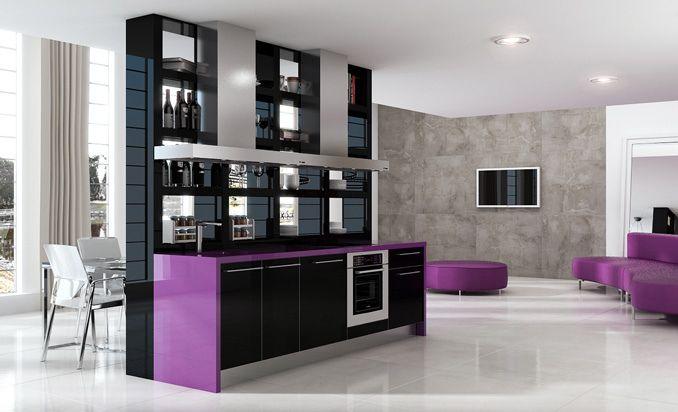 Estantes de cocina como divisores de espacios for Estantes para cocina pequena