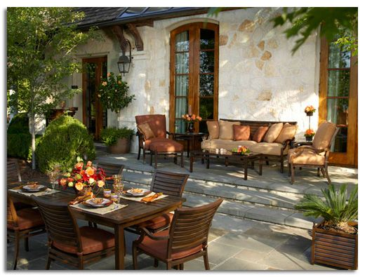 Accesorios para decorar terrazas espejos for Decoracion jardines exteriores rusticos