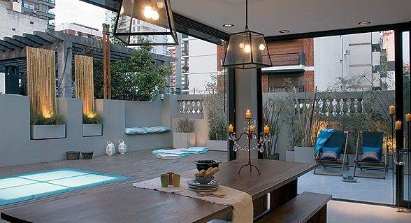 como iluminar la terraza