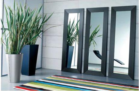 Espejos en la sala de estar for Espejos decorativos modernos para sala