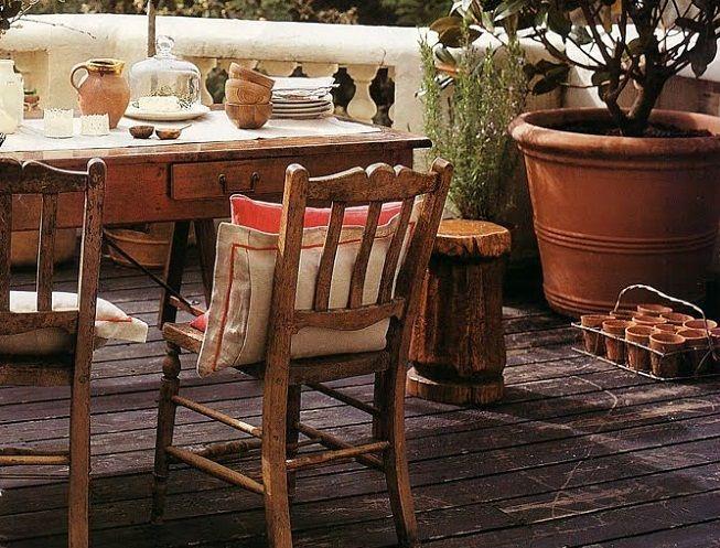Terrazas de estilo rustico for Casa moderno kl
