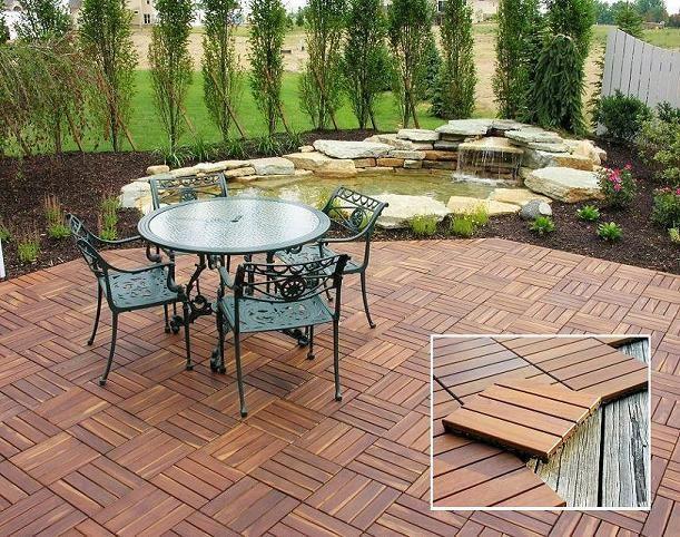 Tipo de pisos para terrazas for Kiosco de madera para jardin