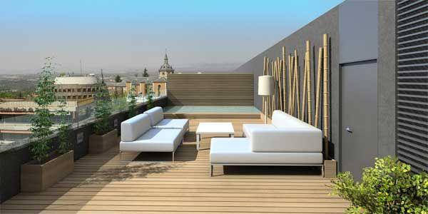 Jardines en terrazas modernas for Plantas minimalistas para exteriores