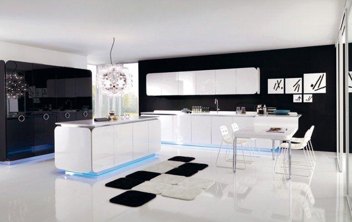 Como decorar una cocina de color blanco y negro for Mobilia cuisine